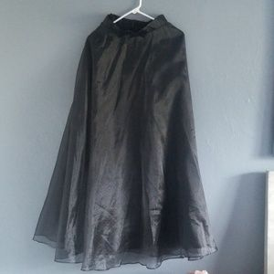 Long black flared evening skirt